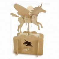 Flying Unicorn Wooden Kit