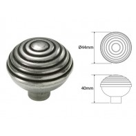 Finesse Beehive Genuine Pewter Cabinet Knob (2 part)
