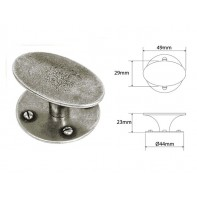 Finesse Chatton Genuine Pewter Cabinet Knob Oval (Includes Backplate)