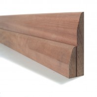 Sapele Chamfered Round Skirting and Architrave