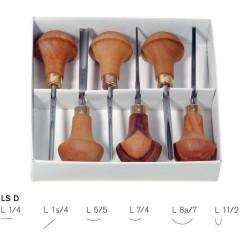 Set  of 6 Pfeil Linoleum and Block cutters PF-LSD