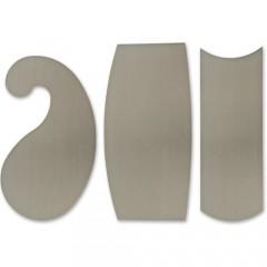Veritas Super-Hard Curved Cabinet Scrapers - 3 x 0.4mm(0.015inch)