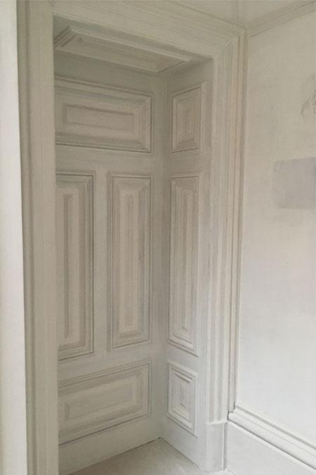 Internal tulipwood door