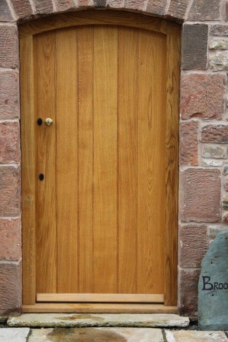External oak door