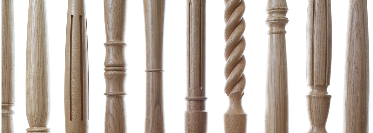 selection of stair spindle details
