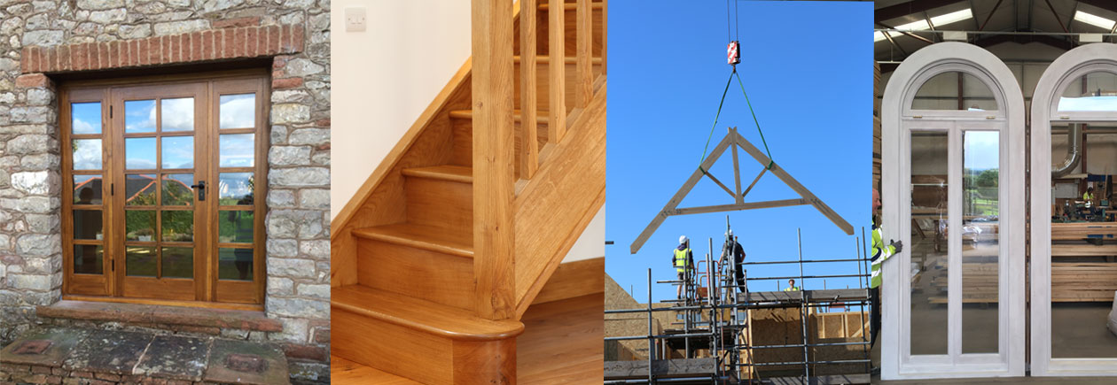 Montage of joinery work