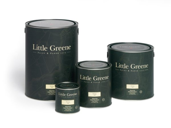 Various sizes of Little Greene paint tins