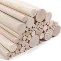 Ash dowels in various diameters