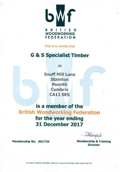 BWF membership certificate