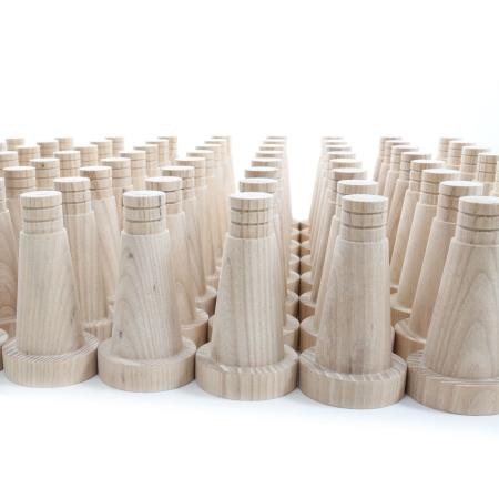 tapered dowel furniture legs in ash