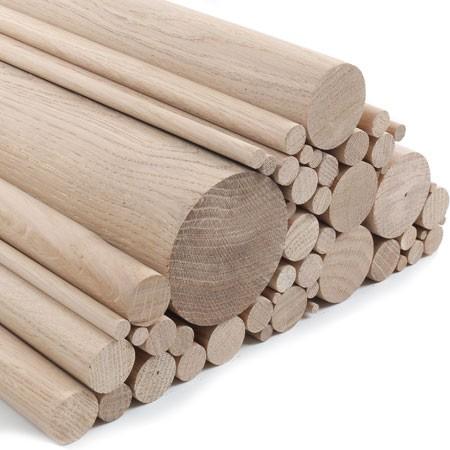 Sanded Oak Dowels in various diameters