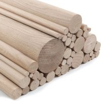 Sanded Oak Dowels in various diameters