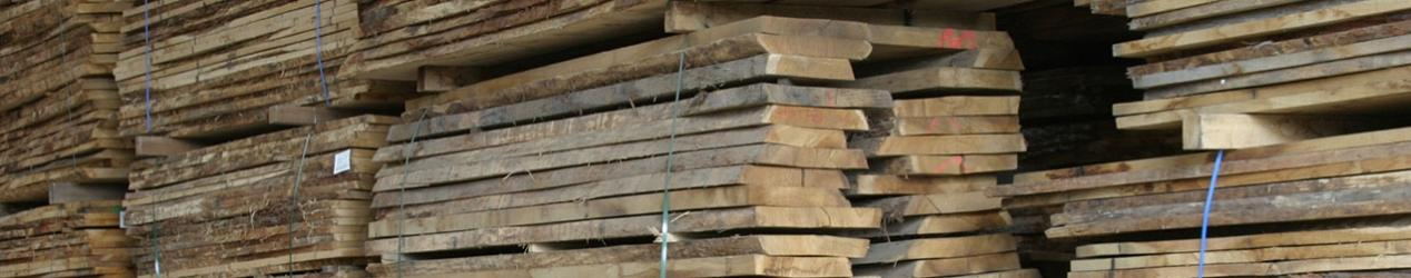 Hard wood timber planks stacked